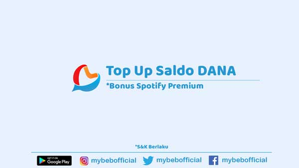 Top Up Saldo DANA - Bonus Spotify Premium